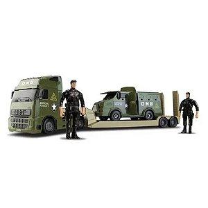 Caminhão Grande E Furgão Comandos Blindado Militar - Omg