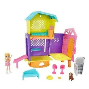 Brinquedo Boneca Polly Pocket Club House Polly Mattel Gmf81