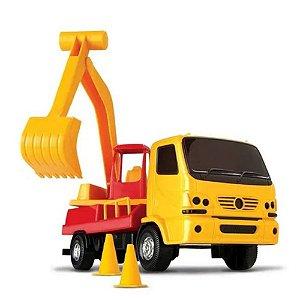 Caminhão De Obras C/ Escavadeira 360° - Ultra Truck - Omg