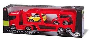Caminhão Cegonheira Top Motors C/ 2 Carrinhos - Omg 4682