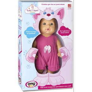 Boneca Bebê Minha Pequena Bichinhos Gato Omg