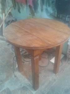 mesa rustica redonda