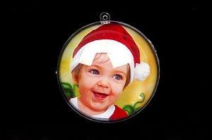 Bola de Natal em Acrílico Personalizada COM FOTO!