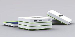Banco de Bateria G-Power STX-II 10000 mAh Carregador Solar USB Power Bank para Expandir de 5000 até 50000 mAh (placa principal + placa extra + placa de energia solar)