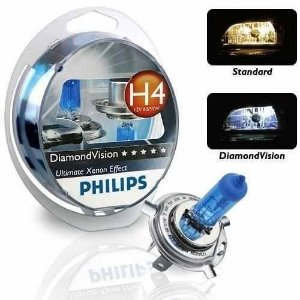 Kit Lâmpada Diamond Vision Philips H1 H3 H4 H7 Hb3 Hb4 (Par)