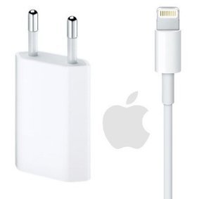 Carregador USB de 5W + Cabo Lightning USB (1 m) para Iphone 5 5s 6 6s 7 8 X Plus Original Genuino Lacrado Apple