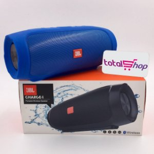 Caixa Som Bluetooth Jbl Charge 4 + Aux Usb P2 30w Caixinha Portátil