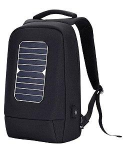 Mochila Carregamento De Energia Solar para Notebook Tela 15,6 à Prova d'Água