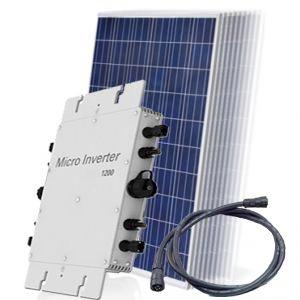 Kit Completo Gerador Solar Fotovoltaico - Microinversor Grid-Tie + Painéis Fotovoltaicos + Cabo Ac