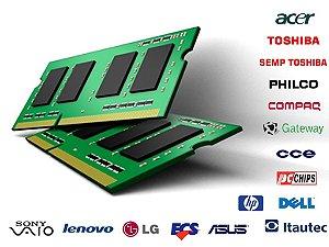 Memória para Notebook 1GB 2GB 4GB 8GB - DDR2 e DDR3