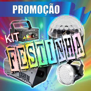 Kit de Iluminação Festinha (Aluguel 24h)