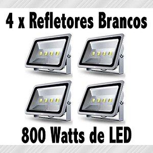 Kit 4 x Holofotes LEDs Brancos (Aluguel 24h)