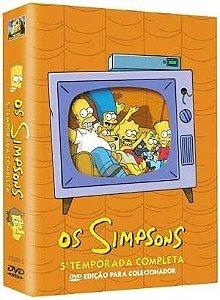 Box DVD Os Simpsons - 5ª Temporada Completa - 4 DVDs - (Original)