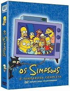 Box DVD Os Simpsons - 4ª Temporada Completa - 4 DVDs - Lacrado (Original)