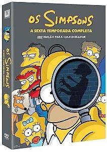 Box DVD Os Simpsons - 6ª Temporada Completa - 4 DVDs - Lacrado (Original)