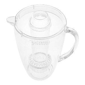 Jarra de Acrílico 2,8 Litros Bebidas Suco Água com Dispenser para Gelo Frutas