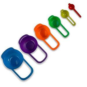 Kit C/ 6 Pçs Medidor De Cozinha Colheres Dosadoras Medidores Confeitaria
