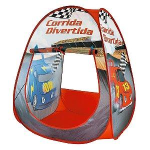 Barraca Infantil Dobrável Tenda Toca Cabana Corrida Divertida Carros Criança
