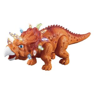 Dinossauro C/ Luz Som E Movimento Anda Tricerátopo Boneco Brinquedo Criança