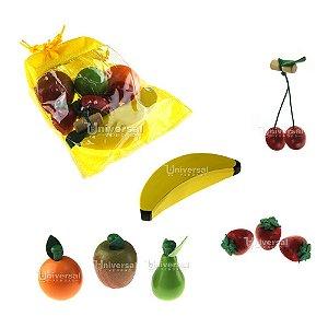 Kit Fruta de Madeira com 10 peças