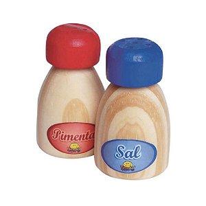 Kit Comidinhas: Sal e Pimenta Madeira Ecológica Brinquedo Infantil