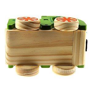 Carrinho Madeira Brinquedo Infantil Caminhão Com Lenhas