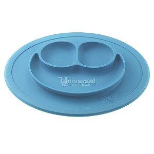Mini Mat Jogo Americano C/ Pratinho Infantil Silicone Azul
