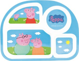 Prato para Refeição com Divisórias Peppa Pig