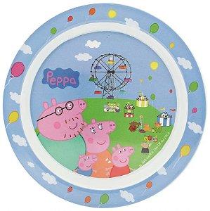 Prato para Refeição Infantil Redondo Peppa Pig