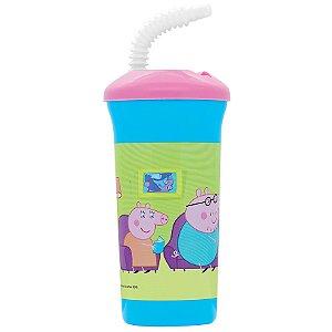 Copo com Canudo 420 mls Peppa Pig
