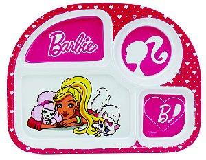 Prato Para Refeição Com Divisórias Barbie Original