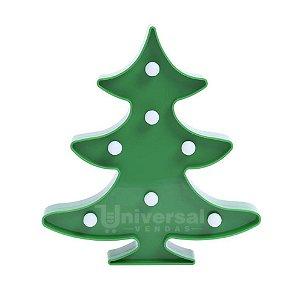 Luminária De Led Decorativa Árvore De Natal Pinheiro Festa