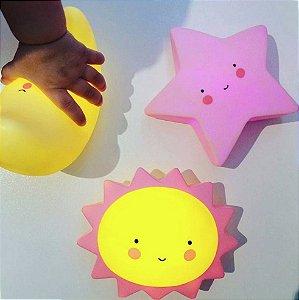 Mini Luminária Abajur Infantil Led Diversos Modelos