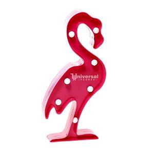Luminária De Led Decorativa Flamingo 7 Leds Festa Decoração
