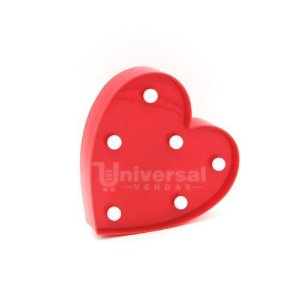 Luminária De Led Decorativa Mini Coração 16x15 Vermelho