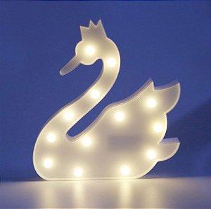 Luminária De Led Decorativa Cisne Festa 3d Decoração