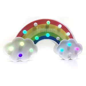 Luminária De Led Arco Íris Luzes Coloridas Decorativa 3d