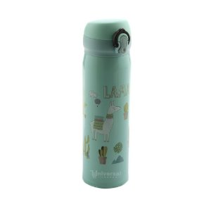 Garrafa Térmica Infantil Inox Quente e Frio 450 mls Lhamas