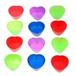 Kit com 6 Formas para Cupcake Formato Coração