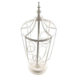 Luminária Lanterna Candelabro Decorativo Para Vela Em Metal
