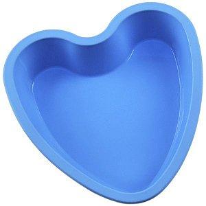 Mini Forma De Silicone Formato De Coração P/ Bolo Assadeira