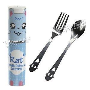 Kit Talher Infantil ( Colher, garfo e capa de proteção)