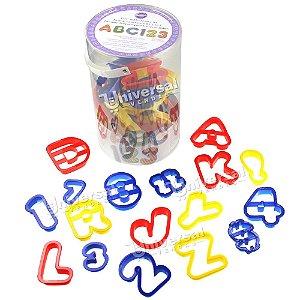 Kit Wilton com 50 Cortadores Plásticos (letras, números, sinais etc)