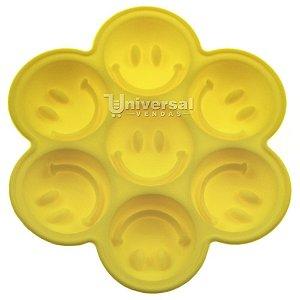 Forma de Silicone Smile c/ 7 Cavidades p/ Gelo