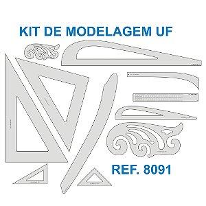 Kit de Réguas para Modelagem e Ampliação UF