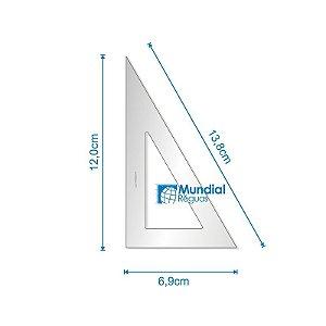 Esquadro 60º 12 cm