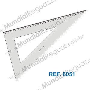 Esquadro 60º 50 cm com escala