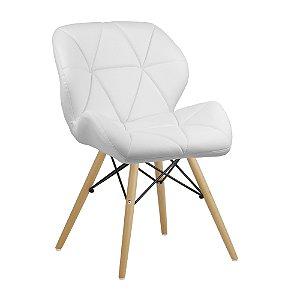 Cadeira Confort Branco Wood em PU