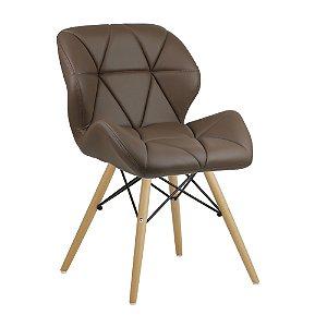 Cadeira Confort Castanho Wood em PU