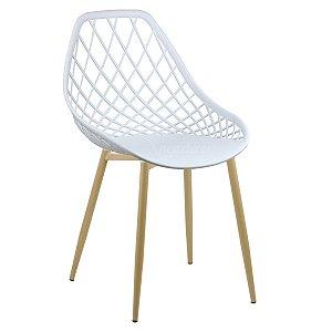Cadeira Marine Branca Wood em PP